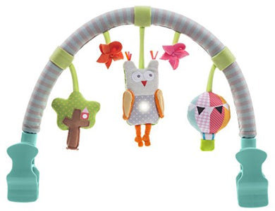 Taf Toys Musical Arch | Best For Infant And Toddlers That Fits To Stroller &Amp; Pram, Activity Bar With Hanging Musical Owl Toy, Easier Outdoors And Easier Parenting, Keeps Your Baby Happy, Ideal Gift