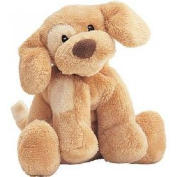 Spunky Puppy Baby Rattle Brown
