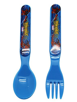 Marvel Comics' The Amazing Spider-Man Plastic Kids Spoon And Fork Set