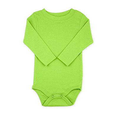 Lime Long Sleeve Snapsuit Bodysuit Onesie - Size 3-6 Months