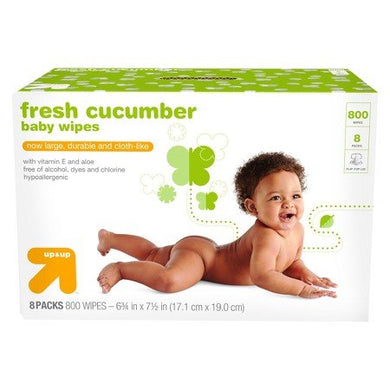 Cucumber Baby Wipes 800 Count