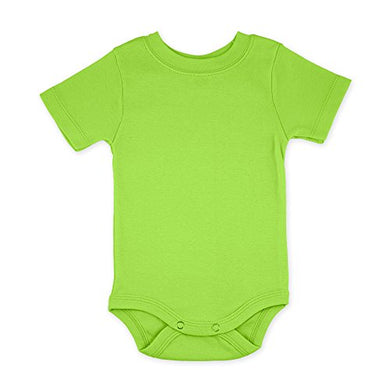 Lime Green Short Sleeve Snapsuit Bodysuit Onesie - Size 6-12 Months