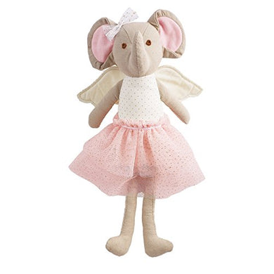 Mud Pie Linen Princess Fairy Plush Doll, Elephant
