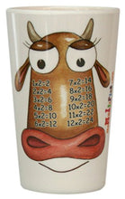 Load image into Gallery viewer, The Multiples Times Table Dinnerware Madame Two Moos 8 Oz Melamine Tumbler