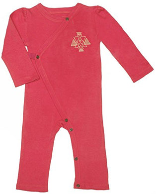 Finn + Emma Organic Cotton Coverall Jumpsuit For Baby Boy Or Girl  Rose Red, 6-9 Months