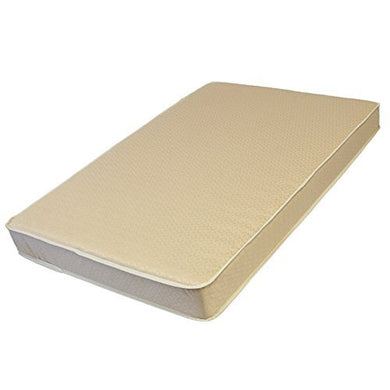 La Baby 3-Inch Organic Cotton Compact Crib Mattress, Brown