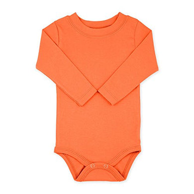 Orange Long Sleeve Snapsuit Bodysuit Onesie - Size 18-24 Months