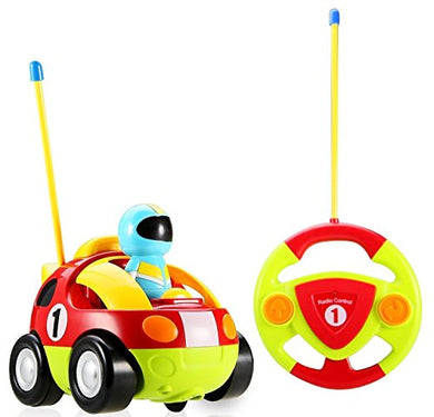 Cartoon Series Toddler R/C Radio Control Lil' Racer Car By Babyhaven, Red