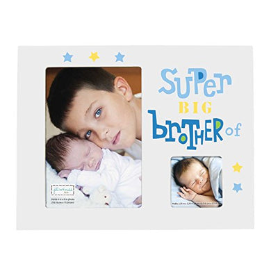 C.R. Gibson Super Big Brother Kids Photo Frame, Holds One 4'' X 6'' And One 2.25'' Square Photo, 9.25'' X 9.25''