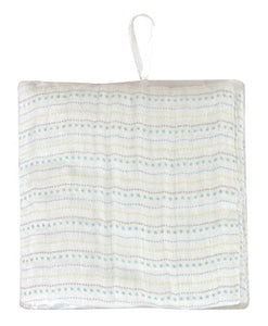 Stephan Baby Cotton Muslin Swaddle Blanket, Stripy Blue Dots