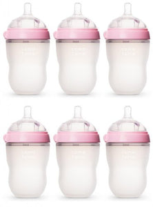 Comotomo Natural Feel 8Oz. Bottle - Pink
