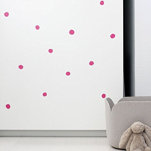Wee Gallery Weecals, Easy To Peel Removable Wall Art Decals For Baby'S Nursery - Hot Pink Dots