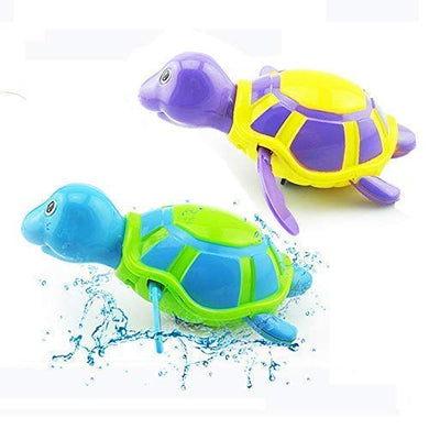 Baby Bath Toys Clockwork Turtle For Toddlers Boys Girls,Wind Up Water Toys Swimming Turtle Summer Pool Bathroom Float Toy Best Kids Child Plastic Bathtub Baby Shower Set For Bath Fun Time
