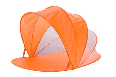 Snoozy Toddler And Pets Easy Pop Up Shade Tent With Slip On Cover And Handles, Orange, 42 X20