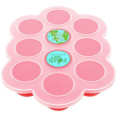 Silicone Baby Food Freezer Tray With Clip-On Lid By Weesprout - Perfect Storage Container For Homemade Baby Food, Vegetable &Amp; Fruit Purees And Breast Milk - Bpa Free &Amp; Fda Approved