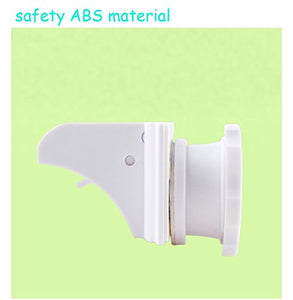 Babywaze Magnetic Safety Locks 4Pcs Locks+1Pc Per Set, White, 35X40X40Mm
