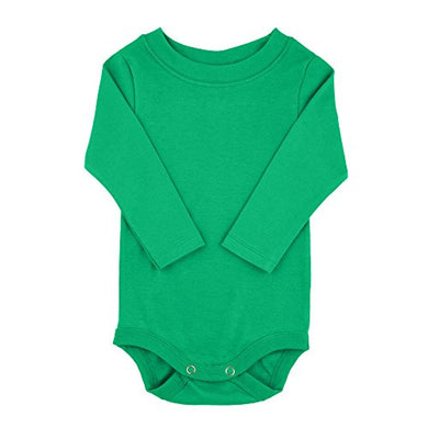 Kelly Green Long Sleeve Snapsuit Bodysuit Onesie - Size 12-18 Months
