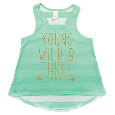 Girl 3Rd Birthday Outfit, Three Year Old Girl Birthday Tank Top (Ice Green,3T)