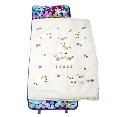 Soho Lavender Wolly Nap Mat For Toddler Preschool Day Care With Pillow Lightweight Rolled Nap Mats