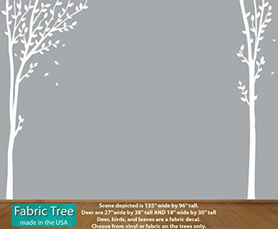 White Tree Wall Decal, Large Tree Mural, Decals For Babys Nursery