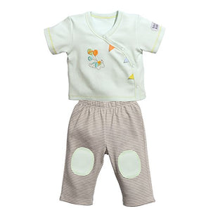 C.R. Gibson Little Fair Side Snap Tee And Pant Gift Set, Fits Sizes 0-3 Months, By Baby Dumpling - Balloon Ride