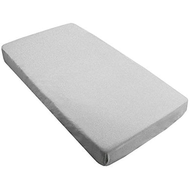 Kushies Baby Percale Fitted Crib Sheet, Grey