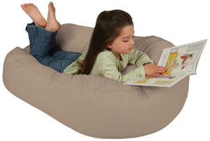 Leachco Pillay Plush Sling-Style Lounger, Latte