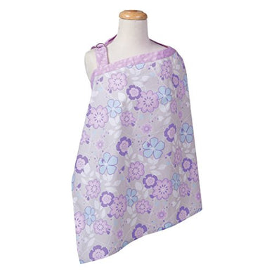 Trend Lab Grace Floral Nursing Cover, Purple, Blue, Gray And White