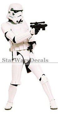 11 Inch Classic Storm Trooper Stormtrooper Galactic Empire Star Wars Episode Iv 4 Removable Wall Decal Sticker Art Home Decor Kids Room-5 Inches Wide By 10 3/4 Inches Tall