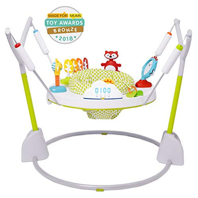 Skip Hop Explore &Amp; More Jumpscape Fold-Away Baby Jumper With Bounce Counter, Multi-Colored