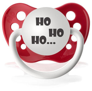 Ulubulu Uni-Sex Baby 'Ho Ho Ho' Christmas Pacifier Red