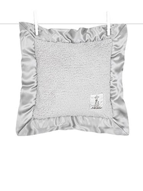 Little Giraffe Bella Pillow, Silver, 14  X 14