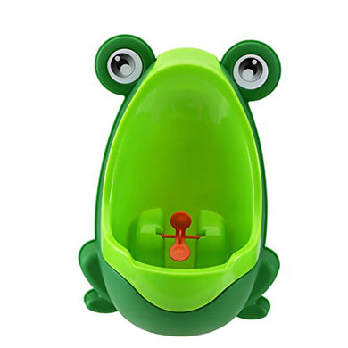 Ivyrise Frog Children Toilet Potty Training Urinal Kids Toddler Pee Trainer Bathroom With Funny Aiming Target(Green)