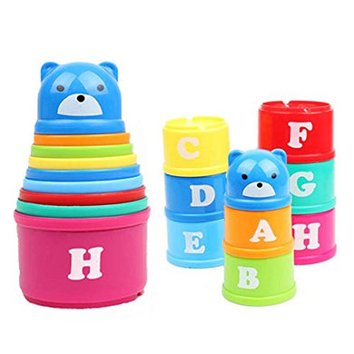 Kids Sorting Brilliant Basics Stacking Baby Toys Folding Roll Cup Figures Letters For Xmas Gift