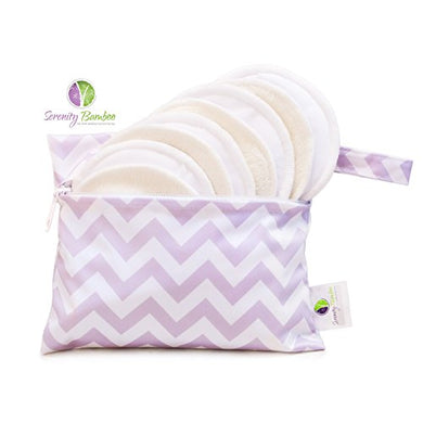 Washable Organic Bamboo Daytime Nursing Pads (4 Pair) Small Size With Laundry Bag - Natural And Reusable, Ultra Soft, And Super Absorbent For The Ultimate Luxury Breast Pad - By Serenity Bamboo