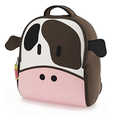 Dabbawalla Bags Cow Backpack, Brown/Pink