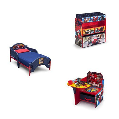 Marvel Spider-Man 3-Piece Toddler Bedroom Bundle