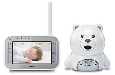 Vtech Vm346 Bear Video Baby Monitor With Automatic Infrared Night Vision, Soothing Sounds &Amp; Lullabies, Temperature Sensor &Amp; 1,000 Feet Of Range
