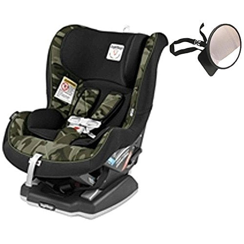 Peg Perego - Primo Viaggio Convertible Car Seat Camo Green With Backseat Mirror
