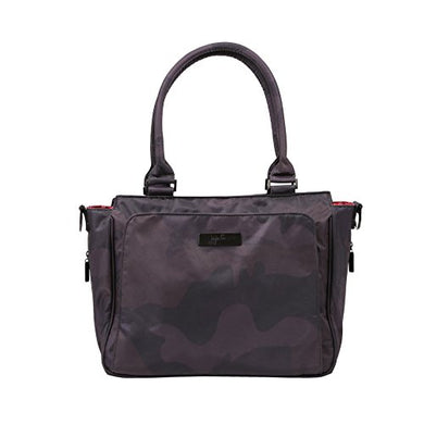 Jujube Be Classy Structured Multi-Functional Diaper Bag/Purse, Onyx Collection - Black Ops