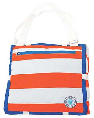 Palm Beach Crew Brilliant Blanket And Wet Bag Game Day Collection, Orange/Blue