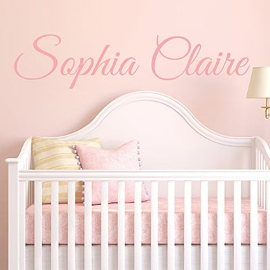 Fancy Cursive Single Personalized Custom Name Vinyl Wall Art Decal Sticker 50  W, Girl Name Decal, Girls Name, Nursery Name, Girls Name Decor, Girls Bedroom Decor, Plus Free 12  White Hello Door Decal