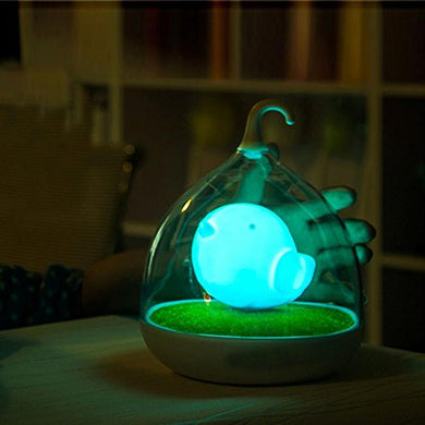 Trendinao Children'S Night Lights Hand-Held Design Touch Sensor Vibration Birdcage Lamp Bird Night Lights - Charging - For Kids, Baby, Valentines Gift, Outdoor Lamp (Blue)