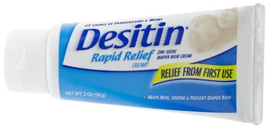 Desitin Rapid Relief Creamy Diaper Rash Cream - 2 Oz