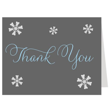 Winter Thank You Cards, Baby Shower, Birthday, Boys, Blue, Gray, Set Of 50 Folding Notes,, Baby It'S Cold Outside