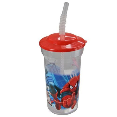 Marvel'S Amazing Spiderman Sports Tumbler With Lid And Straw (Set Of 2), 16-Ounce