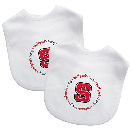 Baby Fanatic Team Color Bibs, North Carolina State University, 2-Count