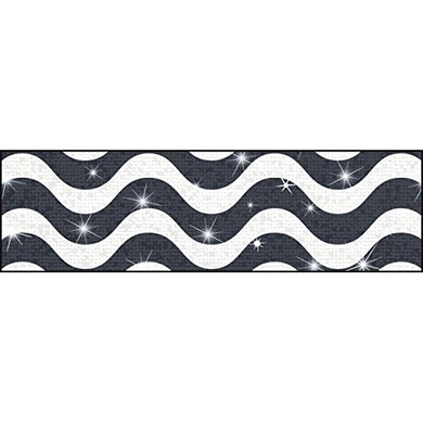 Trend Enterprises Wavy Sparkle Plus Bolder Borders (10 Piece), 2-3/4 X 429/35.75', Black