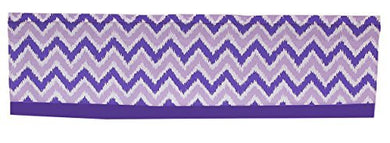 Purple And Lavender Zig Zag Window Valance