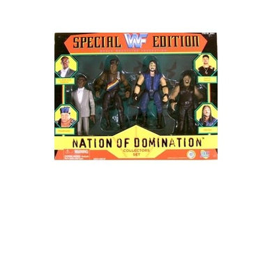 Wwf Special Edition Nation Of Domination Action Figure Multi-Pack